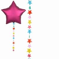 Multicoloured Star Balloon Tails