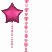 Pink Hearts Balloon Tails