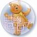 24 Inch Baby Girl Blocks & Bear Double Bubble