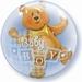 24 Inch Baby Boy Blocks & Bear Double Bubble