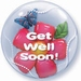 24 Inch Get Well Flower Double Bubble Balloon