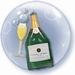 24 Inch Champagne Bubbles Double Bubble Balloon