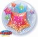 24 Inch Stars & Streamers Double Bubble Balloon