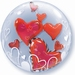 24 Inch Lovely Floating Hearts Double Bubble Balloon