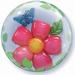 24 Inch Leaves Flower Double Bubble Balloon