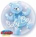 24 Inch Baby Blue Bear Double Bubble
