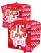 Love Hugs And Kisses Cubes Foil Balloon