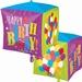 Happy Birthday Balloons Cubez Foil Balloon