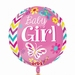 Baby Girl Orbz Foil Balloon