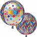 Happy Birthday Stripes And Bursts Orbz Foil Balloon