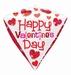 Happy Valentines Day Diamondz Foil Balloon