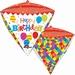 Happy Birthday Geometric Diamondz Foil Balloon