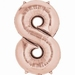 Number 8 Rose Gold Supershape Balloons