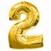 Number 2  Gold Supershape Balloons