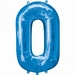 Number 0 Blue Supershape Balloons