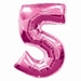 Number 5 Pink Supershape Balloons