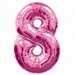 Number 8 Pink Supershape Balloons