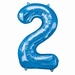 Number 2 Blue Supershape Balloons