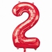 Number 2 Red Supershape Balloons