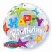 22 Inch Birthday Brilliant Stars - Bubble Balloon