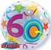 22 Inch Birthday Brilliant Stars Aged 60 - Bubble Balloon
