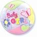 22 Inch Baby Girl Butterflies Bubble